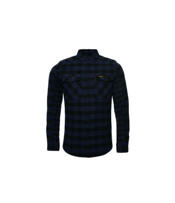 Superdry Chemise blue check